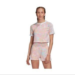 NWOT Adidas Pastel Cropped T-Shirt